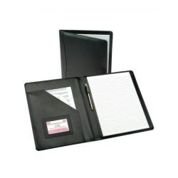 Cheap Stationery Supply of 5 Star Elite Executive Conference Folder Genuine Leather Cover Capacity 30mm A4 Black Office Statationery