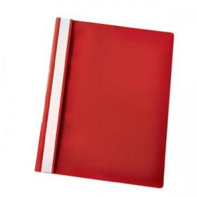 Esselte Vivida Report Flat Bar File Polypropylene Clear Front A4 Red Ref 28316 Pack of 25
