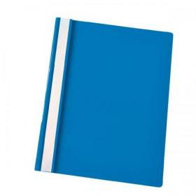 Esselte Vivida Report Flat Bar File Polypropylene Clear Front A4 Blue Ref 28322 Pack of 25