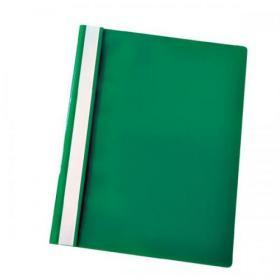 Esselte Vivida Report Flat Bar File Polypropylene Clear Front A4 Green Ref 28317 Pack of 25