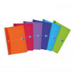 Cheap Stationery Supply of Oxford Office Notebook Poly Wirebound 90gsm Smart Ruled 180pp A5 Assorted Colour 100104780 Pack of 5 Office Statationery