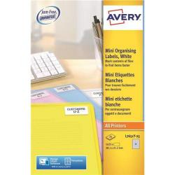 Cheap Stationery Supply of Avery Promotional Mini Labels Laser 65 per Sheet 38.1x21.2mm Neon Yellow L7651Y-25 1625 Labels Office Statationery