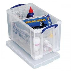Cheap Stationery Supply of Really Useful Storage Box Plastic Lightweight Robust Stackable 24 Litre W270xD464xH282mm Clear 24C Office Statationery