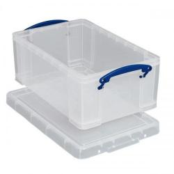 Cheap Stationery Supply of Really Useful Storage Box Plastic Lightweight Robust Stackable 5Litre W200xD340xH125mm Clear Ref3x5CPk3 Office Statationery