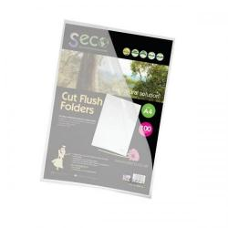 Cheap Stationery Supply of SSeco Folders Cut Flush Polypropylene Oxo-Biodegradable A4 Clear LSF-CL Pack of 100 Office Statationery