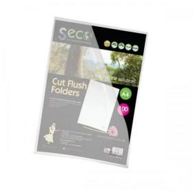 SSeco Folders Cut Flush Polypropylene Oxo-Biodegradable A4 Clear Ref LSF-CL Pack of 100