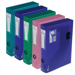 Cheap Stationery Supply of Snopake DocBox (A4) Polypropylene Box File with Push Lock 60mm Spine (Electra Assorted Colours) Pack of 5 Box Files 14833 Office Statationery