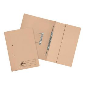 5 Star Elite Transfer Spring Pocket File Heavyweight 315gsm Foolscap Buff Pack of 25