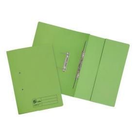 5 Star Elite Transfer Spring Pocket File Heavyweight 315gsm Foolscap Green Pack of 25