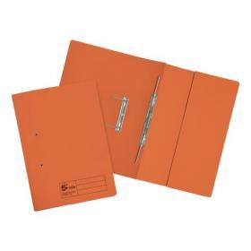 5 Star Elite Transfer Spring Pocket File Heavyweight 315gsm Foolscap Orange Pack of 25