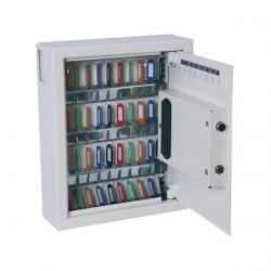 Cheap Stationery Supply of Phoenix Electronic Key Safe with Keyring Fixings and Tags (White) KS0032 Office Statationery