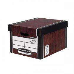 Cheap Stationery Supply of Bankers Box by Fellowes Premium 725 (A4/Foolscap) Classic Storage Box Woodgrain (1 x Pack of 10 Storage Boxes) 7250501-XX Office Statationery