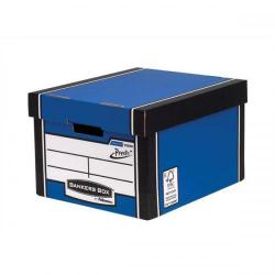Cheap Stationery Supply of Bankers Box by Fellowes Premium 725 (A4/Foolscap) Classic Storage Box (1 x Pack of 10 Storage Boxes) 7250601-XX Office Statationery