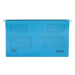 Cheap Stationery Supply of Bantex Flex Suspension File Kraft V-Base 15mm 220gsm Foolscap Blue 100331437 Pack of 25 Office Statationery