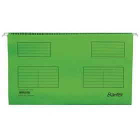 Bantex Flex Suspension File Kraft V-Base 15mm 220gsm Foolscap Green Ref 100331441 Pack of 25