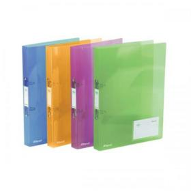 Rexel Ice Ring Binder Polypropylene 2 O-Ring 25mm A4 Translucent Assorted Ref 2102044 Pack of 10