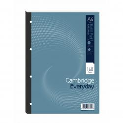 Cheap Stationery Supply of Cambridge Everyday Refill Pad Sbd 70gsm Ruled Margin Punched 4 Holes 160pp A4 Blue 100080234 Pack of 5 Office Statationery