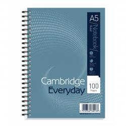 Cheap Stationery Supply of Cambridge Everyday Nbk Wirebound 70gsm Ruled Perforated Punched 2 Holes 100pp A5 100080190 Pack of 10 Office Statationery