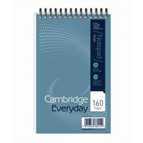 Cambridge Everyday Shorthand Pad Wbnd 70gsm Ruled Perforated 160pp 125x200mm Blue Ref 100080235 Pack of 10