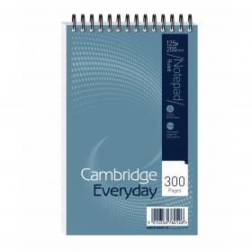 Cambridge Everyday Shorthand Pad Wbd 70gsm Ruled Perforated 300pp 125x200mm Blue Ref 100080210 Pack of 5