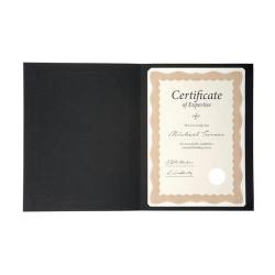 Cheap Stationery Supply of Certificate Covers Linen Finish Heavyweight Card 240g A4 Black Pack of 5 Office Statationery