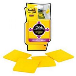 Cheap Stationery Supply of 3M Post-It F330-4SSY Super Sticky Full Adhesive Notes (Yellow) 76x76mm (1 x Pack of 4 Pads) - Offer Free Notes April 2014 F330-4SSY-XX Office Statationery