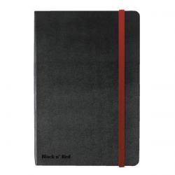 Cheap Stationery Supply of Black n Red (A6) Hardback Casebound Business Journal 90g/m2 144 Pages Ruled and Numbered (Black) (2 For 1 May 2014) 400033672-XXX Office Statationery