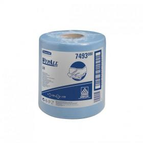 Wypall L10 Wipers Centrefeed Airflex 525 Sheets per Roll 185x380mm Blue Ref 7493 Pack of 6
