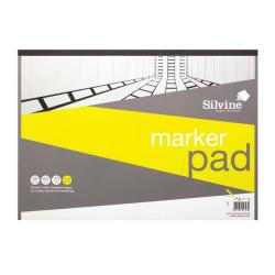 Cheap Stationery Supply of Silvine (A3) Marker Pad Bleedproof 70gsm (50 Sheets) White A3MP Office Statationery