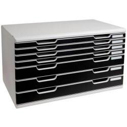 Cheap Stationery Supply of Exacompta Classic Modulo (A3+) 7-Drawer Set Filing Unit Polystyrene (Grey/Black) 323014D Office Statationery