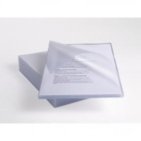 Rexel Anti Slip Folders Cut Flush Polypropylene High Grip 150micron Clear Ref 2102211 Pack of 25