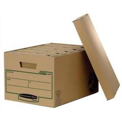 Cheap Stationery Supply of Bankers Box by Fellowes Earth Series (A4/Foolscap) Large Storage Box with Lift off Lid (1 x Pack of 10 Storage Boxes) 4470701-xx Office Statationery