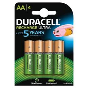 Duracell Stay Charged Battery Long-life Rechargeable 2500mAh AA Size 1.2V Ref 81418237 Pack of 4