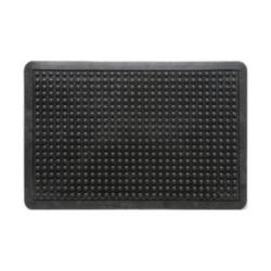 Cheap Stationery Supply of Doortex Anti-fatiguemat Mat Rubber Bevelled Edge Bubble Texture 610x910mm Black FCAF6191 Office Statationery