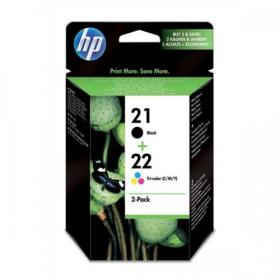 Hewlett Packard HP No.21/No.22 Inkjet CartPage Life 416ppBlack/300ppTri-Colour 5ml Ref SD367AE Pack of 2