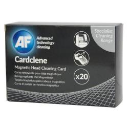 Cheap Stationery Supply of AF Cardclene Impregnated Plain Head Cleaning Cards (Pack of 20) ACCP020 Office Statationery