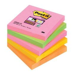 Cheap Stationery Supply of 3M Post-it Super Sticky Notes (76x76mm) Neon Rainbow Assorted (5 x Pack of 90 Sheets) - Offer 3 for 2 (July to September 2014) 654-SN-XX Office Statationery
