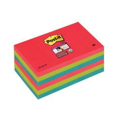 Cheap Stationery Supply of 3M Post-it Super Sticky Colour Note Pads (76x127mm) Jewel Pop (6 x Pack of 90 Sheets) - Offer 3 for 2 (July to September 2014) 655-6SS-JP-XX Office Statationery