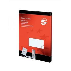 5 Star Office Multipurpose Labels Laser Copier Inkjet 65 per Sheet 38.1x21.2mm White 6500 Labels
