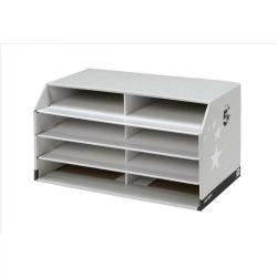 Cheap Stationery Supply of 5 Star Facilities Document Sorter with 8 Compartments Grey Office Statationery