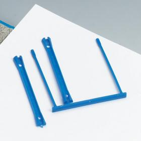 5 Star Office Filing Clip Polypropylene Blue Pack of 10