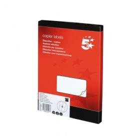 5 Star Office Multipurpose Labels Laser Copier and Inkjet 4 per Sheet 105x148.5mm White 400 Labels