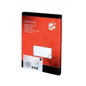 5 Star Office Addressing Labels Inkjet 18 per Sheet 63.5x46.6mm White 1800 Labels