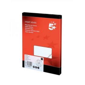 5 Star Office Addressing Labels Inkjet 8 per Sheet 99.1x67.7mm White 800 Labels