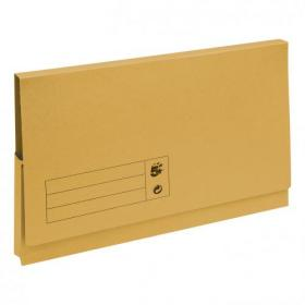 5 Star Office Document Wallet Full Flap 285gsm Recycled Capacity 32mm Foolscap Yellow Pack of 50