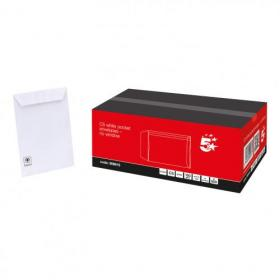 5 Star Office Envelopes PEFC Pocket Peel & Seal 100gsm C5 229x162mm White Pack of 500