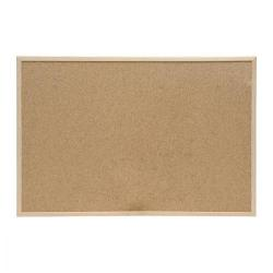 Cheap Stationery Supply of 5 Star Office Noticeboard Cork with Pine Frame W600xH400mm Office Statationery