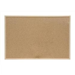 Cheap Stationery Supply of 5 Star Office Noticeboard Cork with Pine Frame W900xH600mm Office Statationery