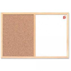 Cheap Stationery Supply of 5 Star Office Combination Noticeboard Cork and Drywipe W600xH400mm Office Statationery