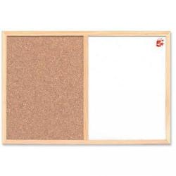Cheap Stationery Supply of 5 Star Office Combination Noticeboard Cork and Drywipe W900xH600mm Office Statationery